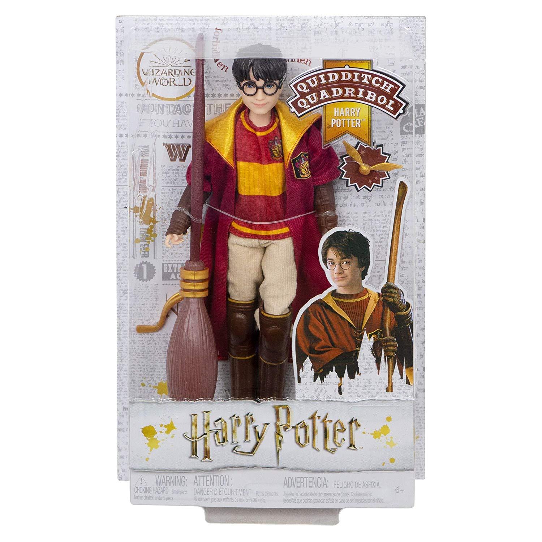 Boneco Harry Potter Quidditch Articulado Mattel 27cm Oficial Licenciado