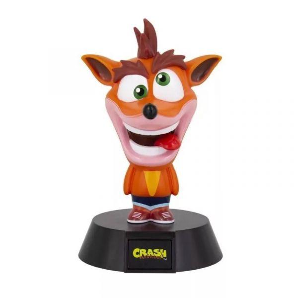 Crash Bandicoot Icon Light - Lâmpada Colecionável de Videogame