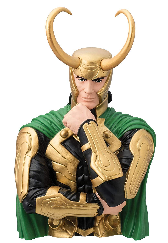 DC Loki Action Figure Cofre Busto Oficial Licenciado