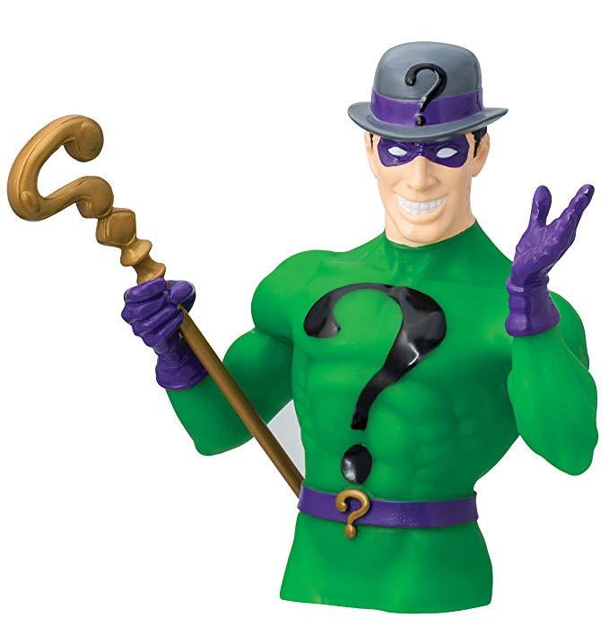 DC Riddler Cofre Busto Action Figure Cofre Busto Oficial Licenciado