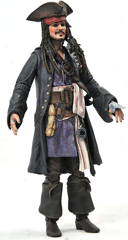 DIAMOND SELECT TOYS Piratas do Caribe Jack Sparrow Oficial Licenciado
