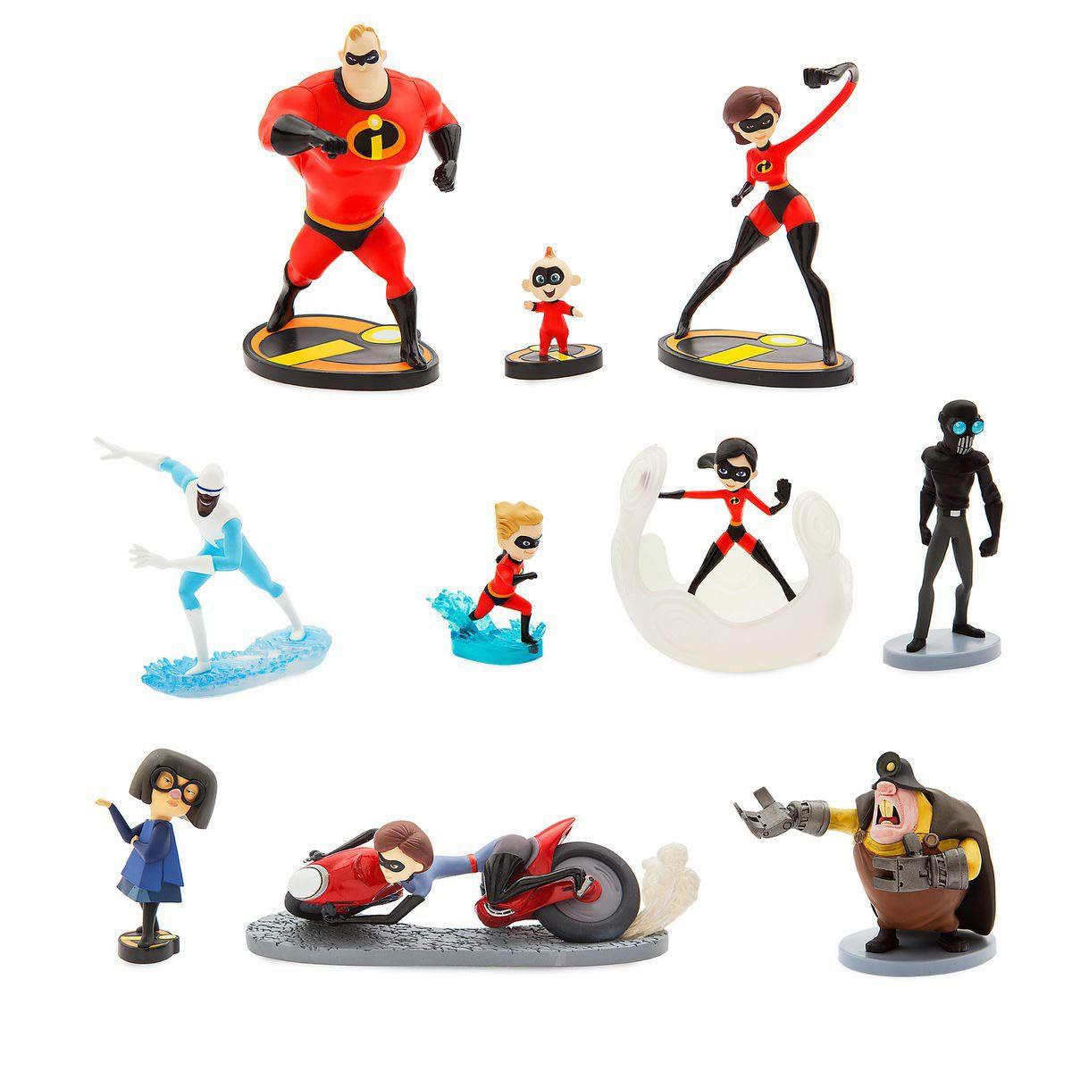 Disney Pixar Os incríveis 2 Deluxe Figure Set com 10 Personagens