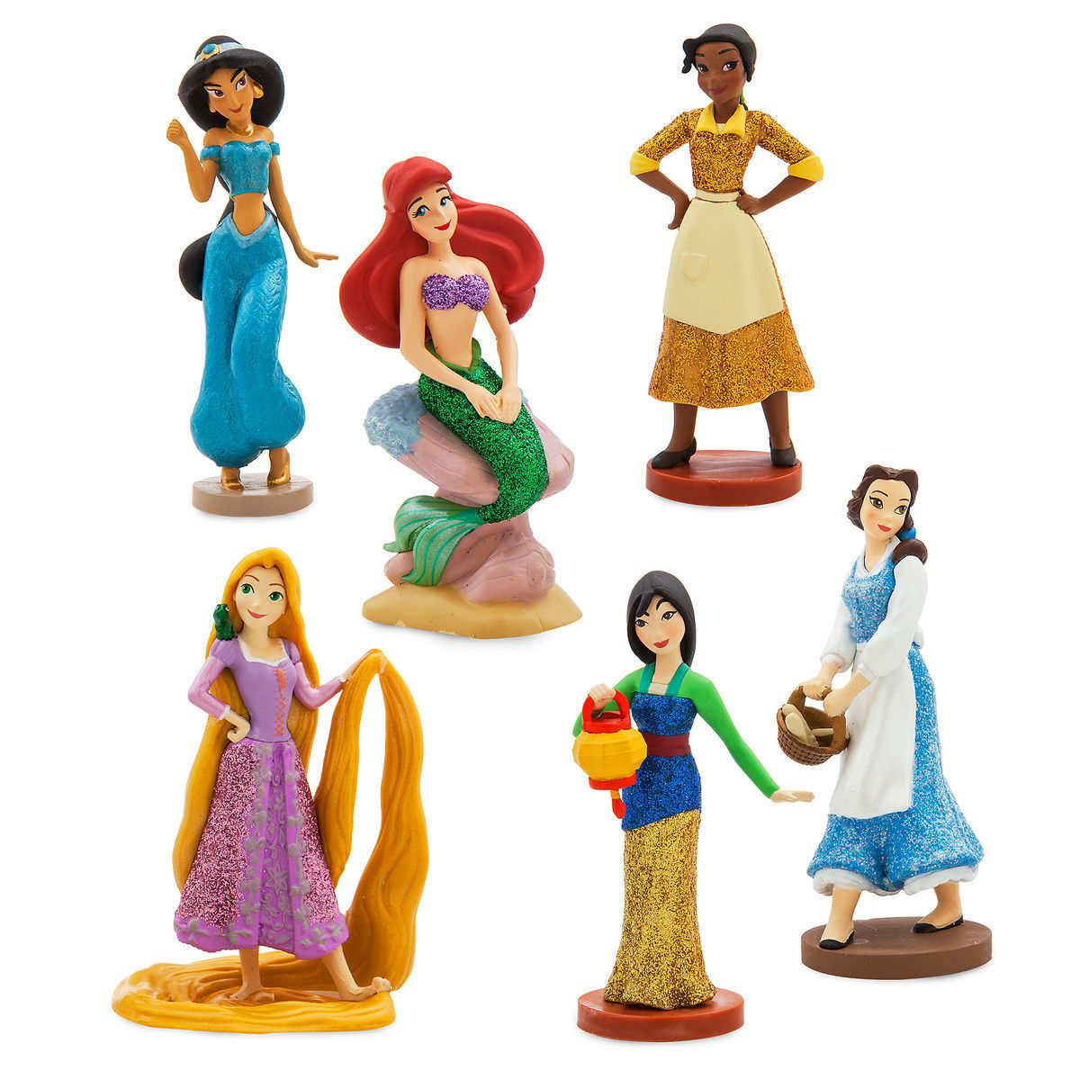 Disney Princesas Pack Com 6 Personagens ( Original )