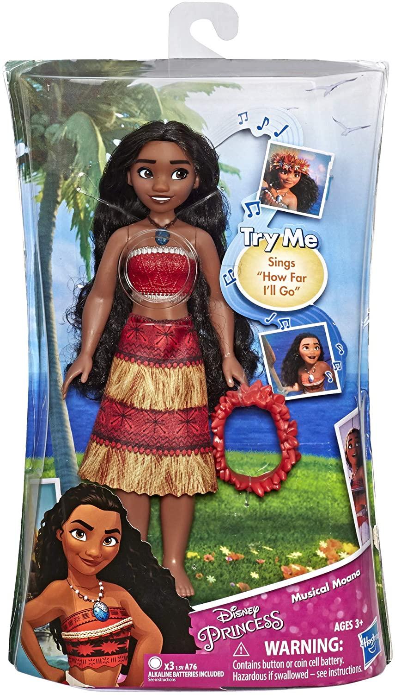 Disney Princess Musical Moana c/ Colar e Canta Oficial Licenciado