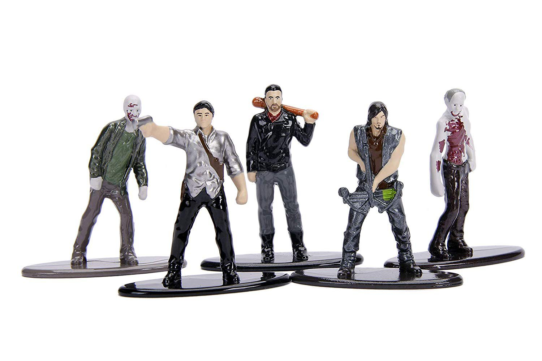 Figuras Jada Metal Nano Walking Dead Pack Com 5