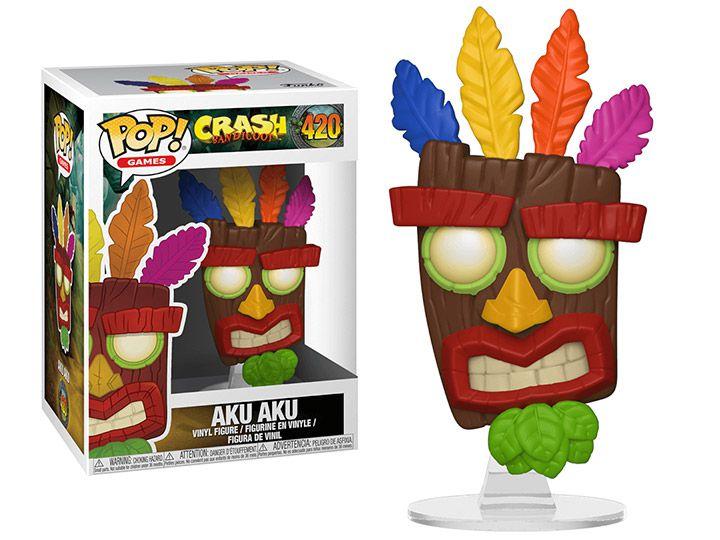 Funko Pop Games Crash Bandiccon - Aku Aku
