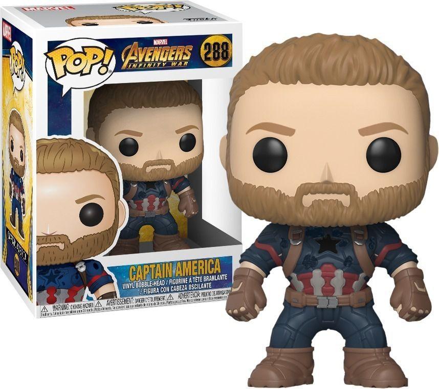 Funko Pop Marvel Vingadores Guerra Infinita - Capitão América