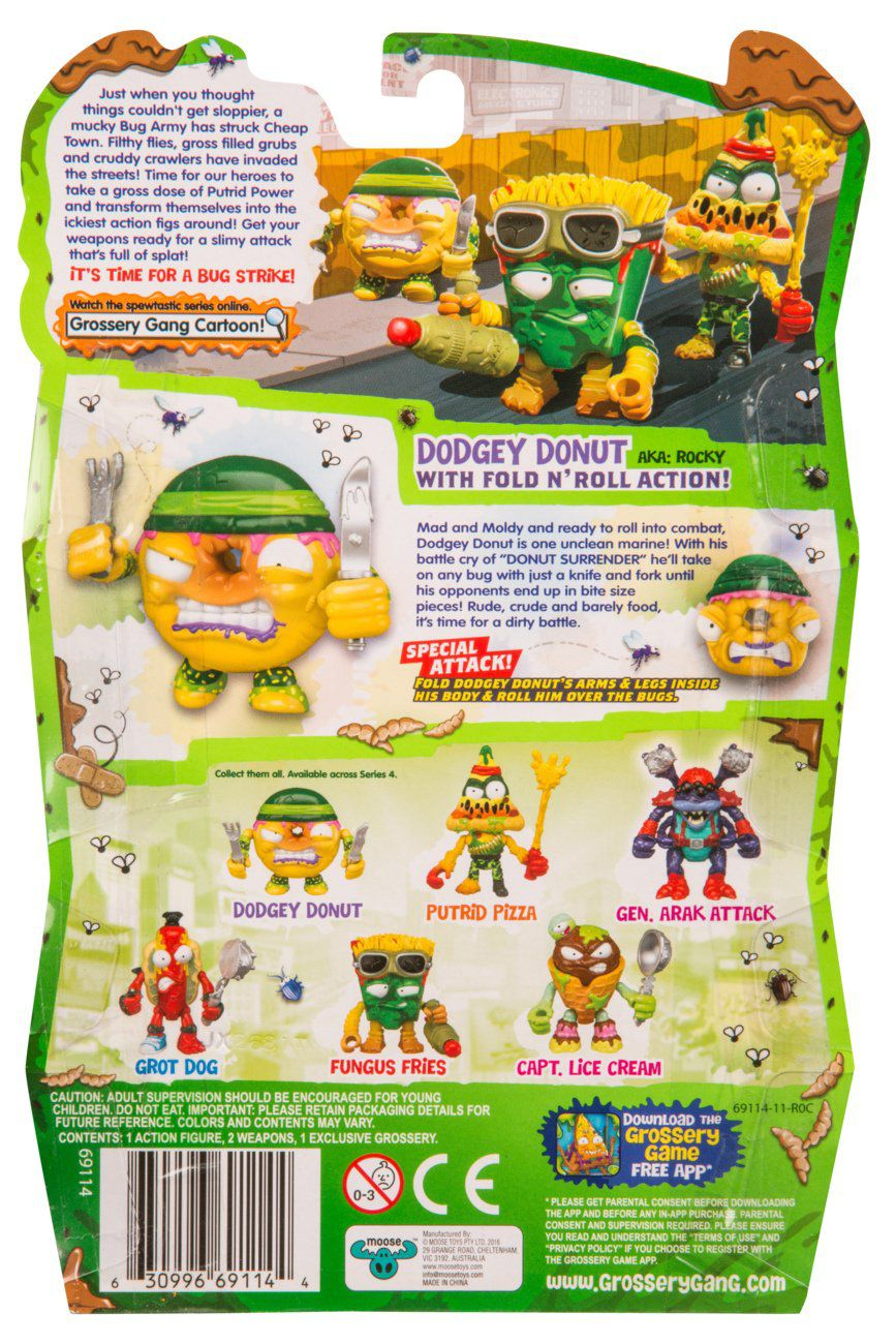Grossery Gang The S4 Bug Strike Action Figures - Dodgey Donut