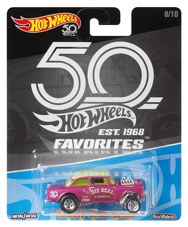 Hot Wheels Coleção 50th Favorites- 55 Chevy Bel Air