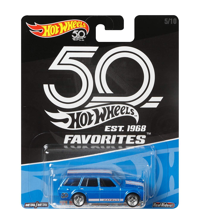 Hot Wheels Coleção 50th Favorites- 71 Datsun Blue Bird 510 Wagon