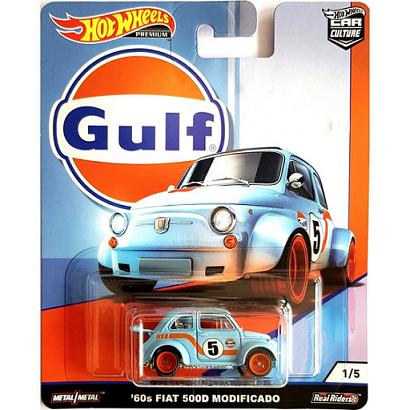 Hot Wheels Gulf- '60s Fiat 500D Modificado Car Culture Gulf