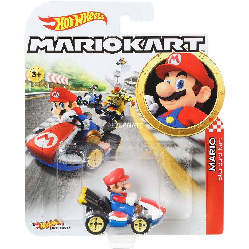 Hot Wheels Mario Kart Luigi Match 8