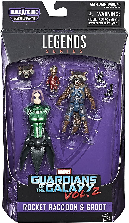 Marvel Legends Guardians of the Galaxy Rocket Raccoon and Baby Groot Oficial Licenciado