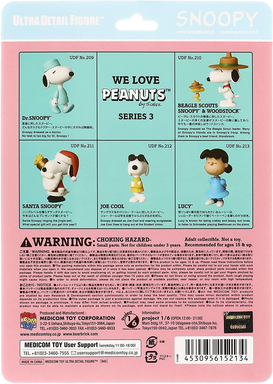 Medicom UDF Ultra Detalhe Figura Peanuts Series 3 Lucy Oficial Licenciado