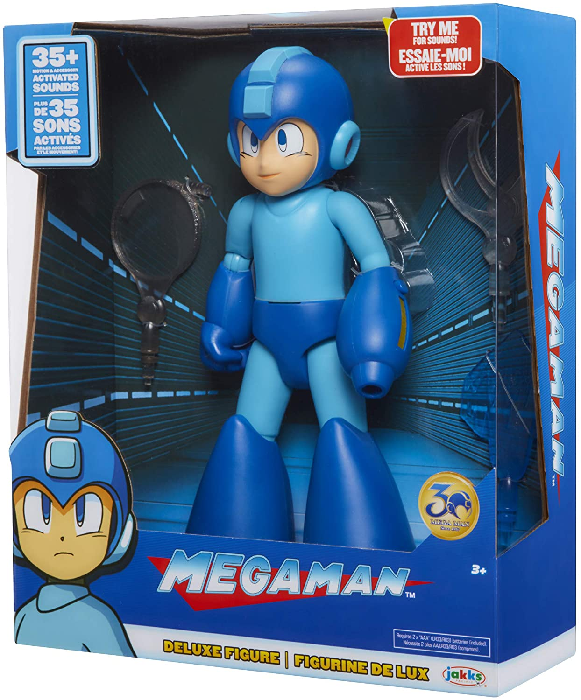 Megaman Deluxe Figura e Acessórios com luz e Sons