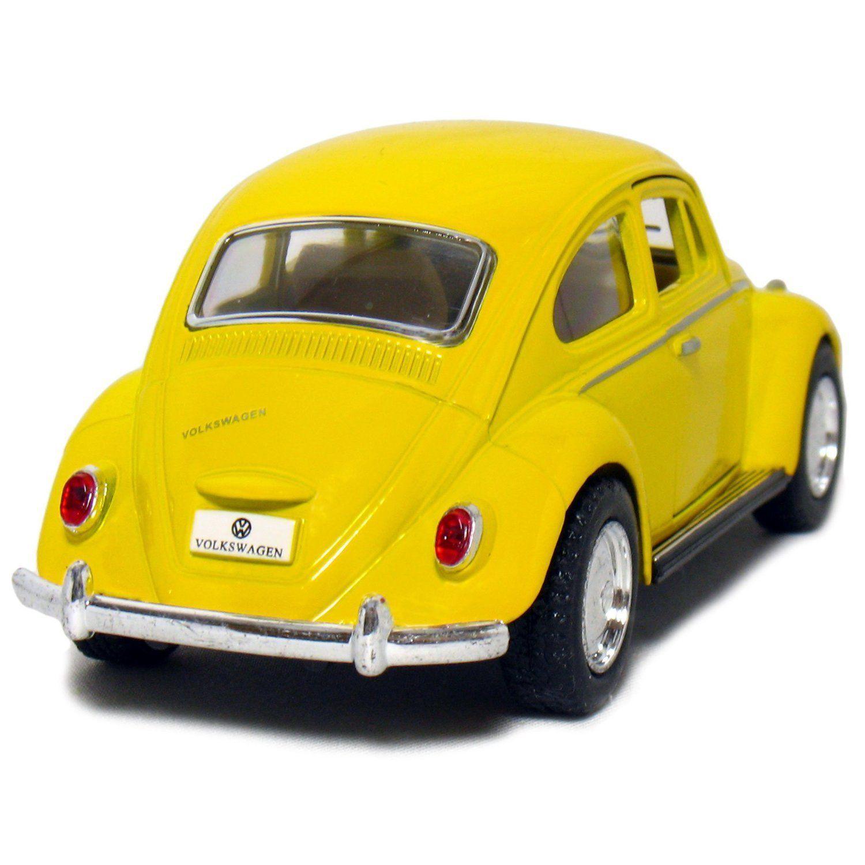 Miniatura Fusca 1967 Amarelo Abre Porta