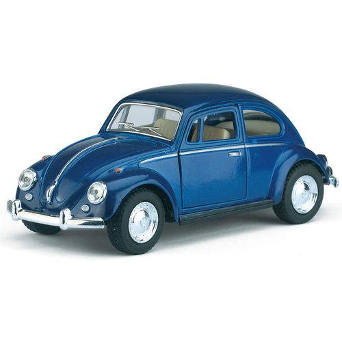 Miniatura Fusca 1967 Azul Abre Porta