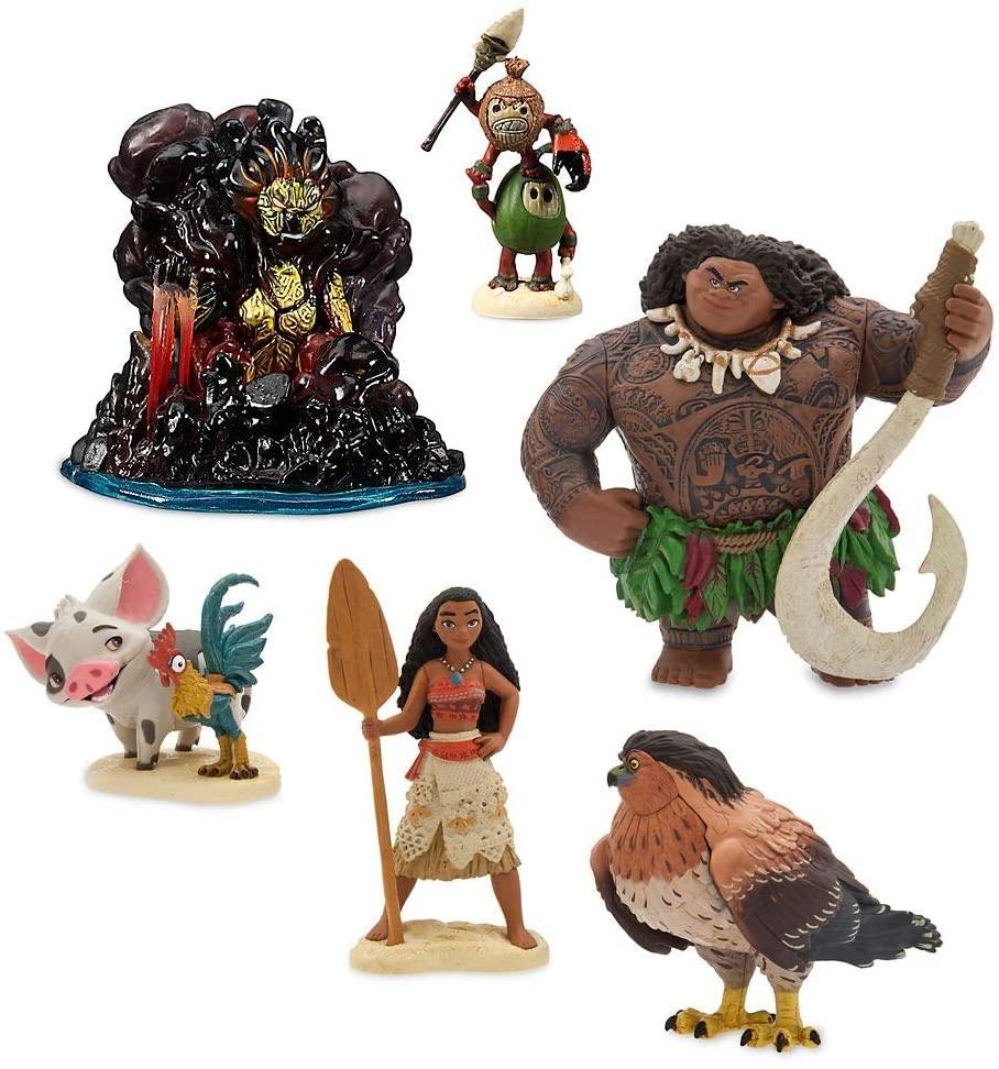 Moana Figure Play Set c/  6 Peças Original Disney Store