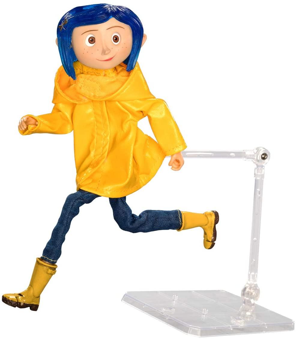 NECA Coraline in Rain Coat Articulada Oficial Licenciado