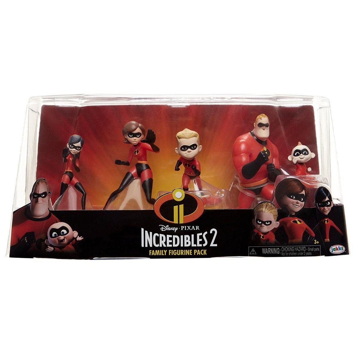 Os Incríveis 2 Pack Com 5 Personagens