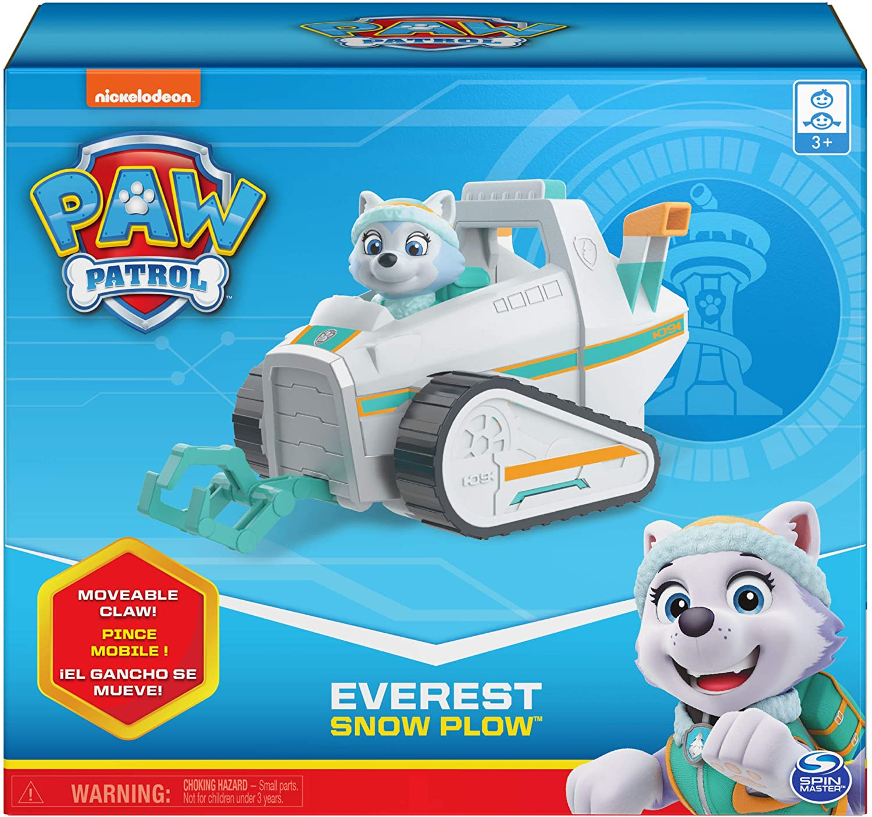 Patrulha Canina Everest Snow Plow Veículo com Figura