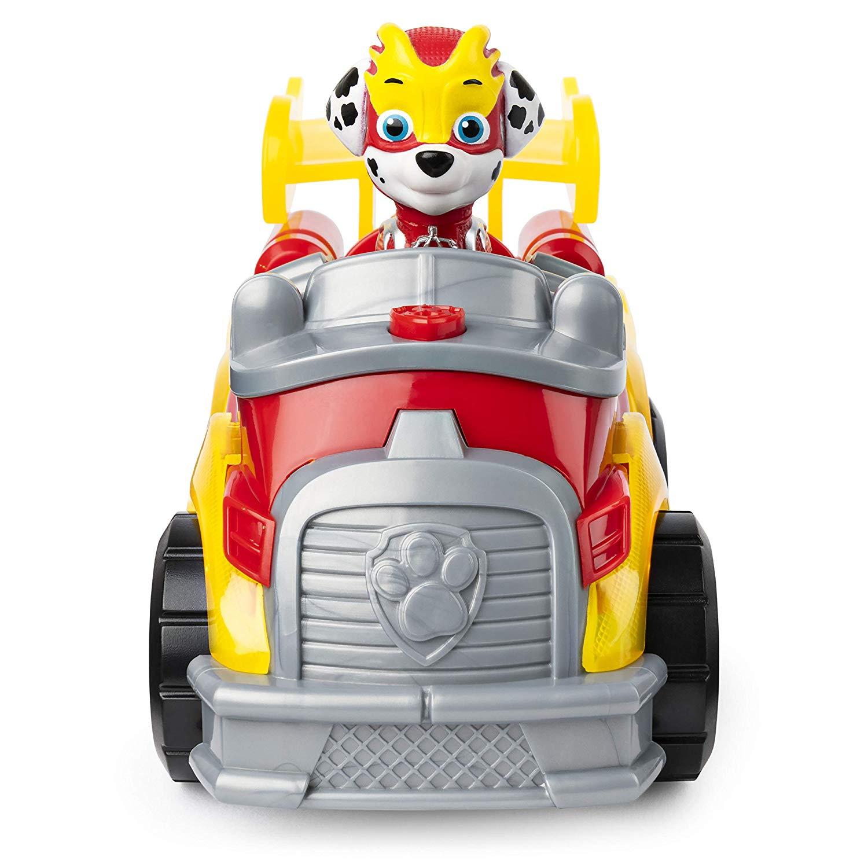 Patrulha Canina Mighty Pups Super Paws Marshall's Veículo com Luzes e Som
