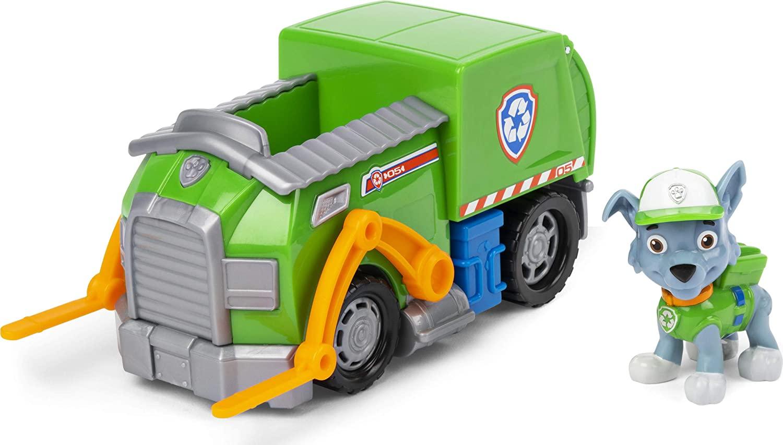 Patrulha Canina Rocky's Recycle Truck Veículo com Figura Oficial Licenciado