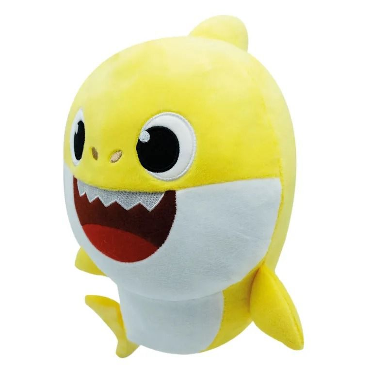 Pelúcia Baby Shark Daddy Shark Amarelo