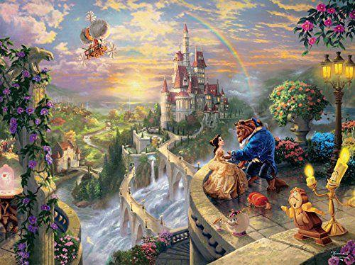 Quebra Cabeça Thomas Kinkade A Bela e a Fera - Disney Oficial