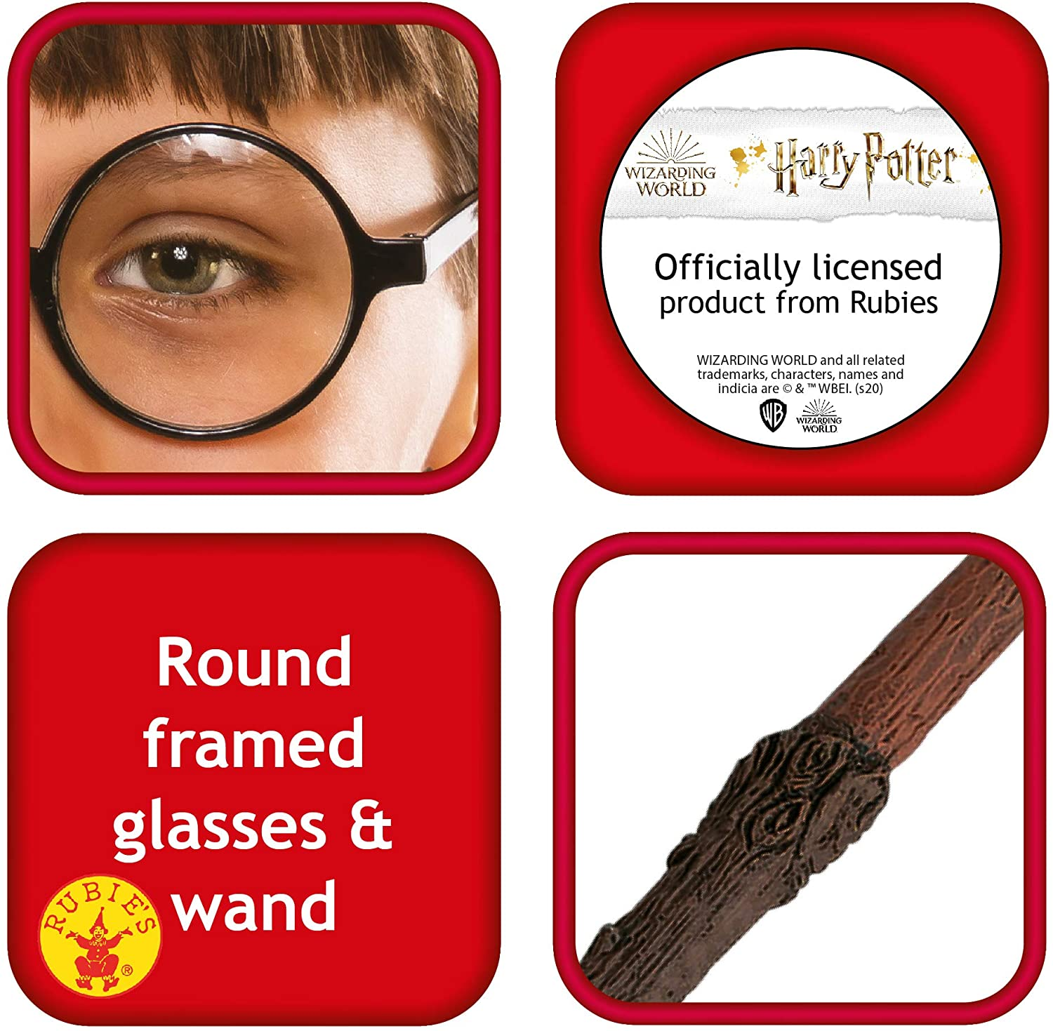 Rubie's Harry Potter Accessories Kit Oficial Licenciado