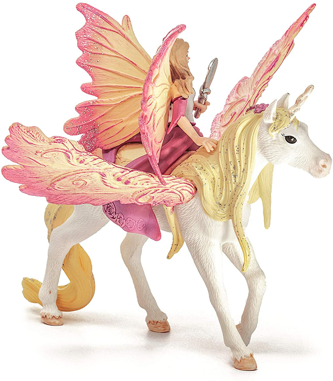 SCHLEICH Bayala Fairy Feya with Pegasus Unicorn Oficial