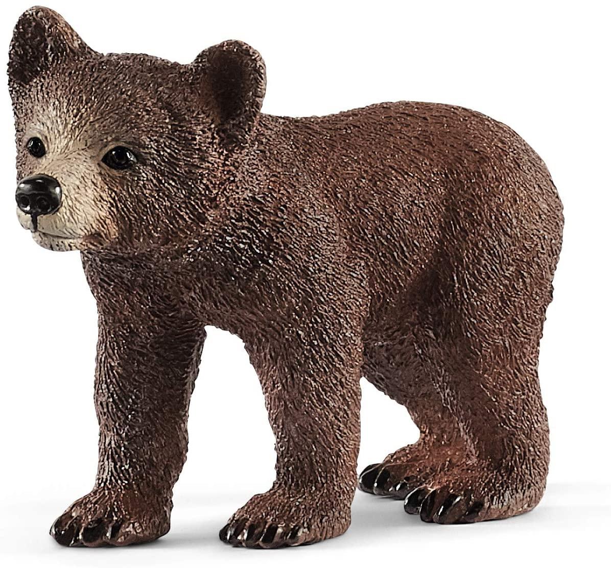 Schleich Wild Life Mãe Urso com filhote e peixe Oficial Licenciado