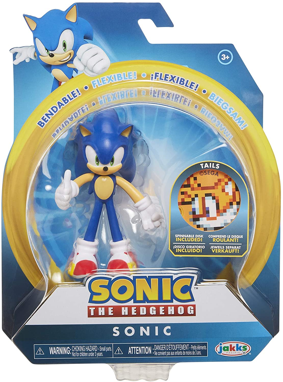 Sonic The Hedgehog Action Figure com Spinable Friend Oficial Licenciado
