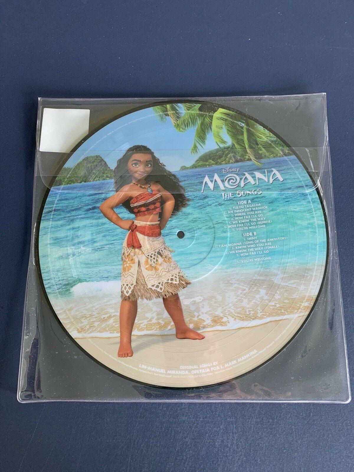 Trilha Sonora Original Filme Moana Walt Disney Vinil Picture Disc LP