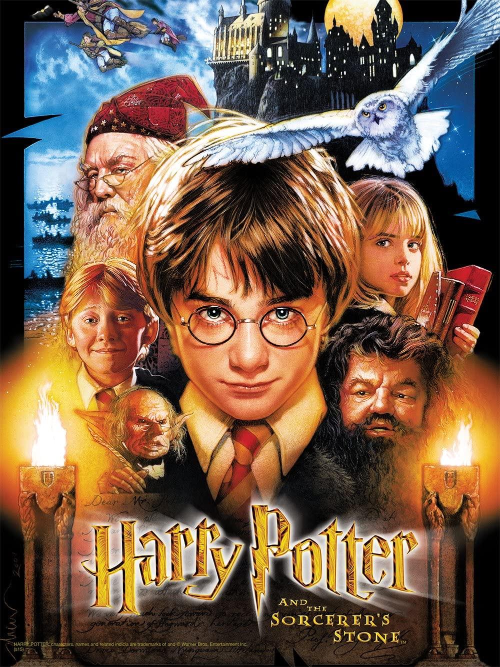 USAOPOLY Quebra Cabeça Harry Potter e a Pedra Filosofal (550 Peças) Oficial Licenciado