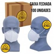 CAIXA COM 100 UN MÁSCARA DESCARTÁVEL PFF1 S/ VÁLVULA LUBEKA BRANCO