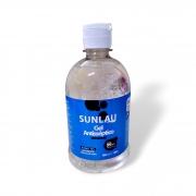 ALCOOL EM GEL ANTISSEPTICO COM ALOE VERA SUNLAU -  500ML