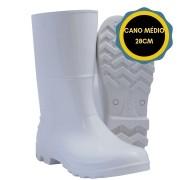 BOTA DE PVC CANO MEDIO 28CM SEM FORRO KADESH - BRANCA - CA:42149  KADESH