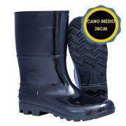 BOTA PVC SAFETY BOOTS CANO MEDIO 28CM CF - PRETA