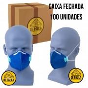 CAIXA COM 100 UN MASCARA DESCARTÁVEL PFF1 SEM VALVULA LUBEKA