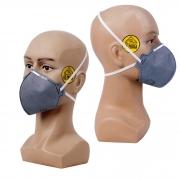 Kit 05 Mascaras de proteção - Cinza  com carvão ativado (filtra o ar) S/ Valvula N95 Pff2 Inmetro - KSN