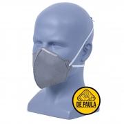 Kit 10 Mascaras de proteção - Cinza  com carvão ativado (filtra o ar) S/ Valvula N95 Pff2 Inmetro - KSN