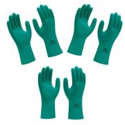 Kit 3 Pares Luva Nitrílica  Verde Nitrogreen - Super Safety- resistente a produtos químicos