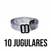 Kit de 10 unidades de JUGULAR DE SILICONE - PLASTCOR Cor: Transparente