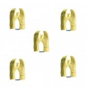 kit de 5 pares de luva de limpeza latex confort Amarela antiderrapante DANNY - CA15.532