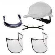 kit de capacete de segurança com suporte e 2peças de viserias  - DIAMOND DELTA PLUS
