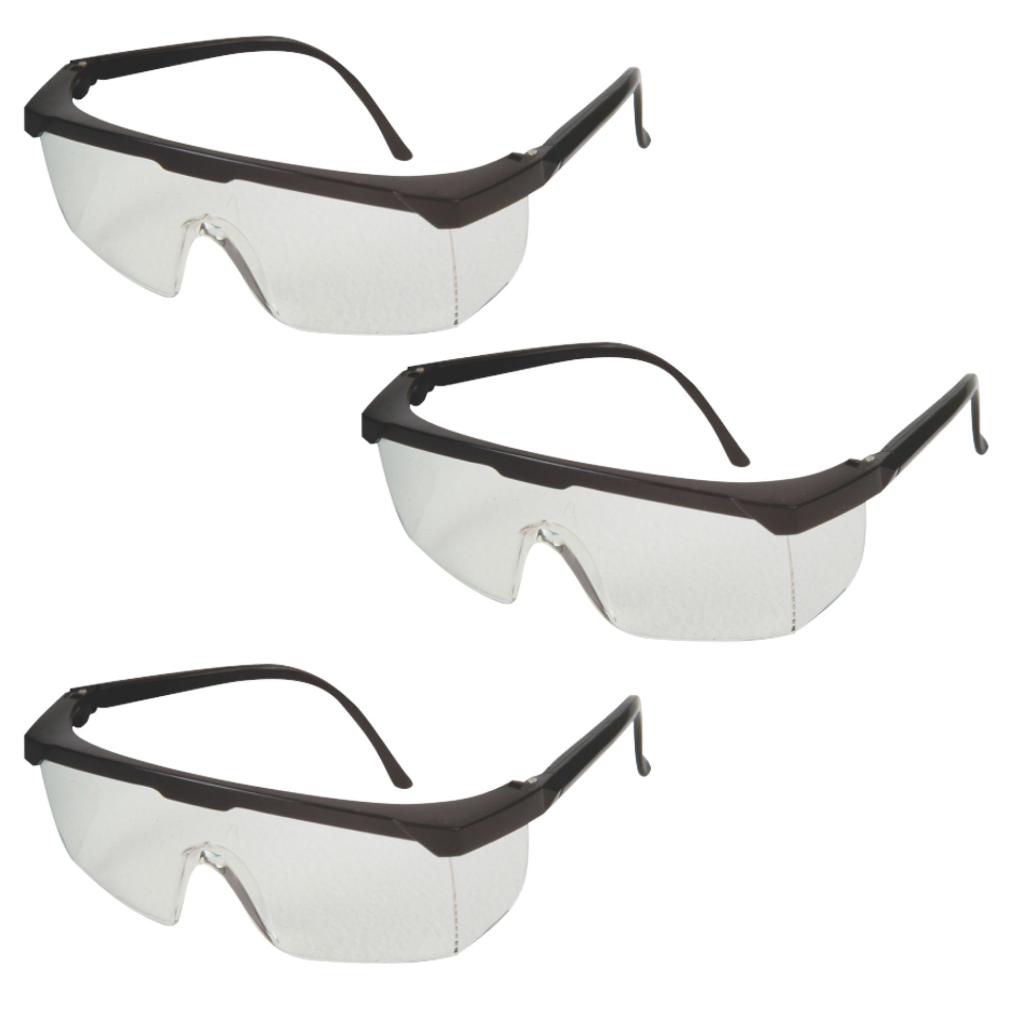 3 Uni Óculos Proteção Rj Jaguar Proteção Total Olhos Kalipso - CA10.346  - DE PAULA EPI