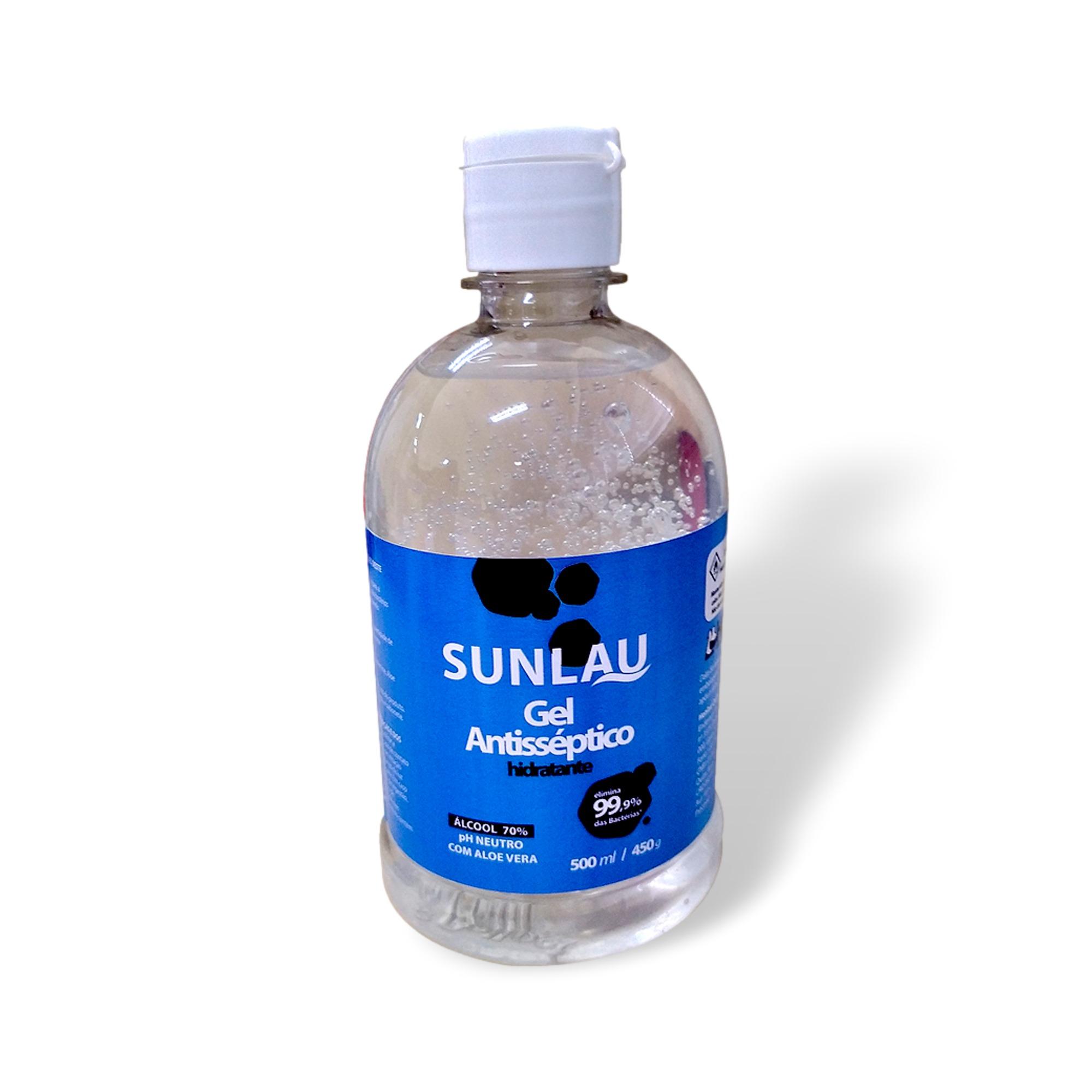 ALCOOL EM GEL ANTISSEPTICO COM ALOE VERA SUNLAU -  500ML  - DE PAULA EPI