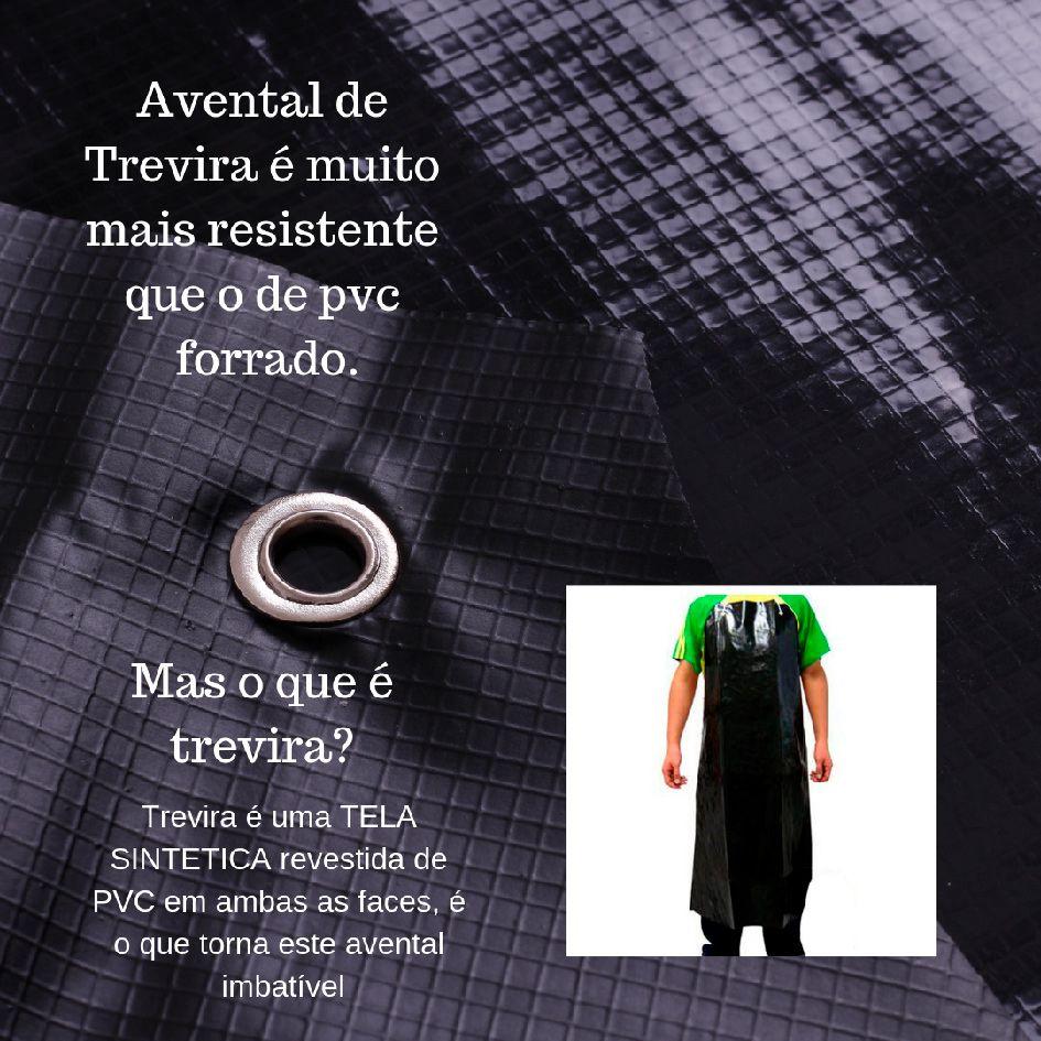 AVENTAL DE TREVIRA IMPERMEÁVEL 120X70CM PRETO - CA 36665  - DE PAULA EPI