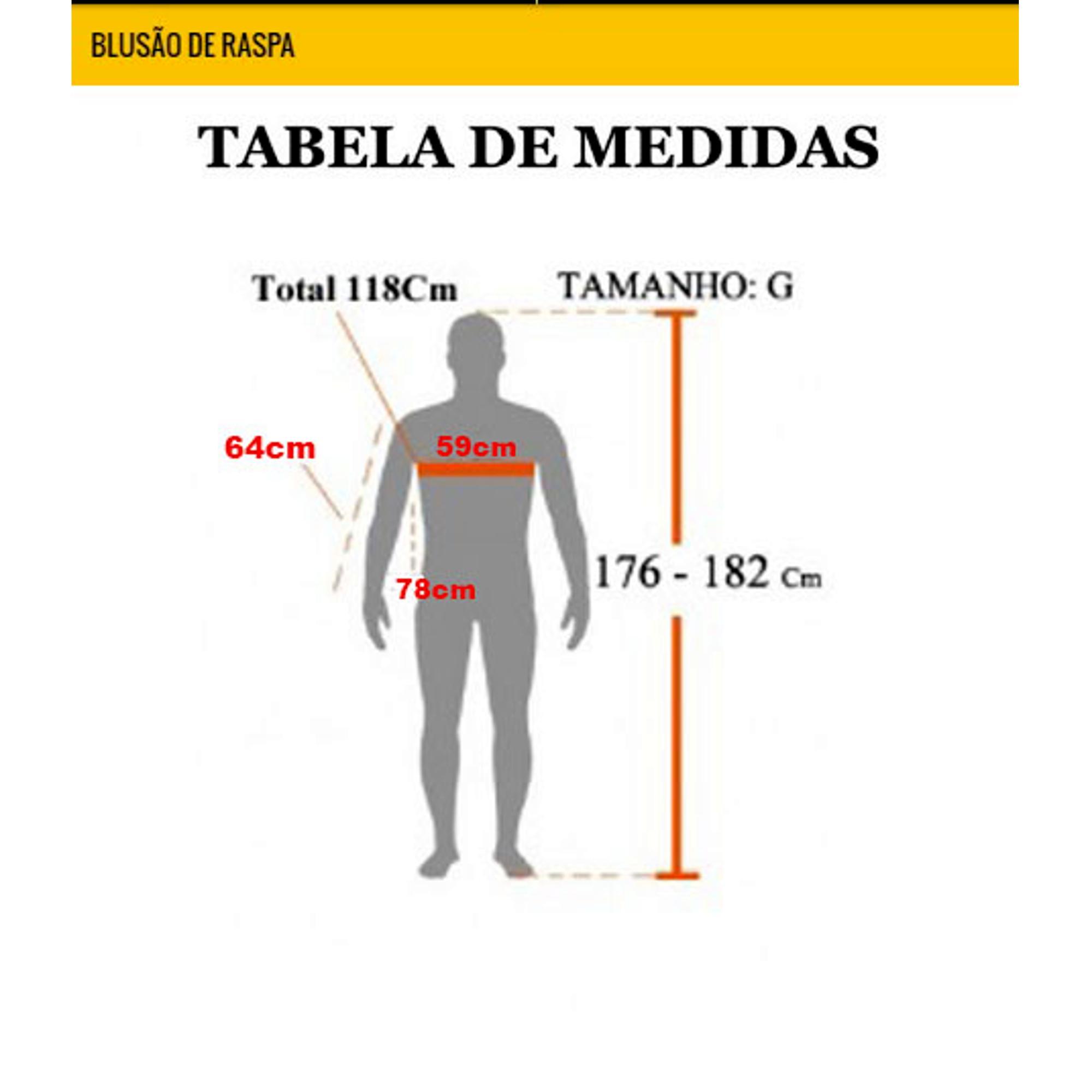 BLUSAO DE RASPA COM VELCRO TEKNOLUVAS CA17644